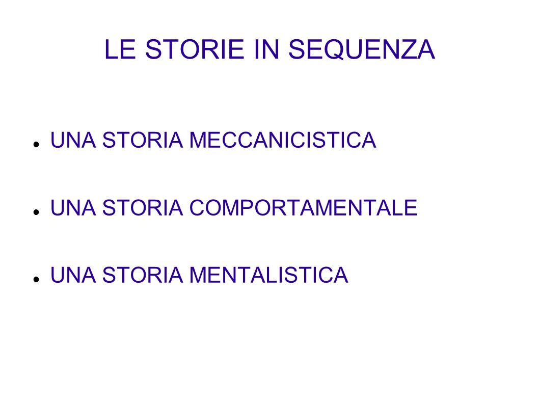 LE STORIE IN SEQUENZA UNA STORIA MECCANICISTICA