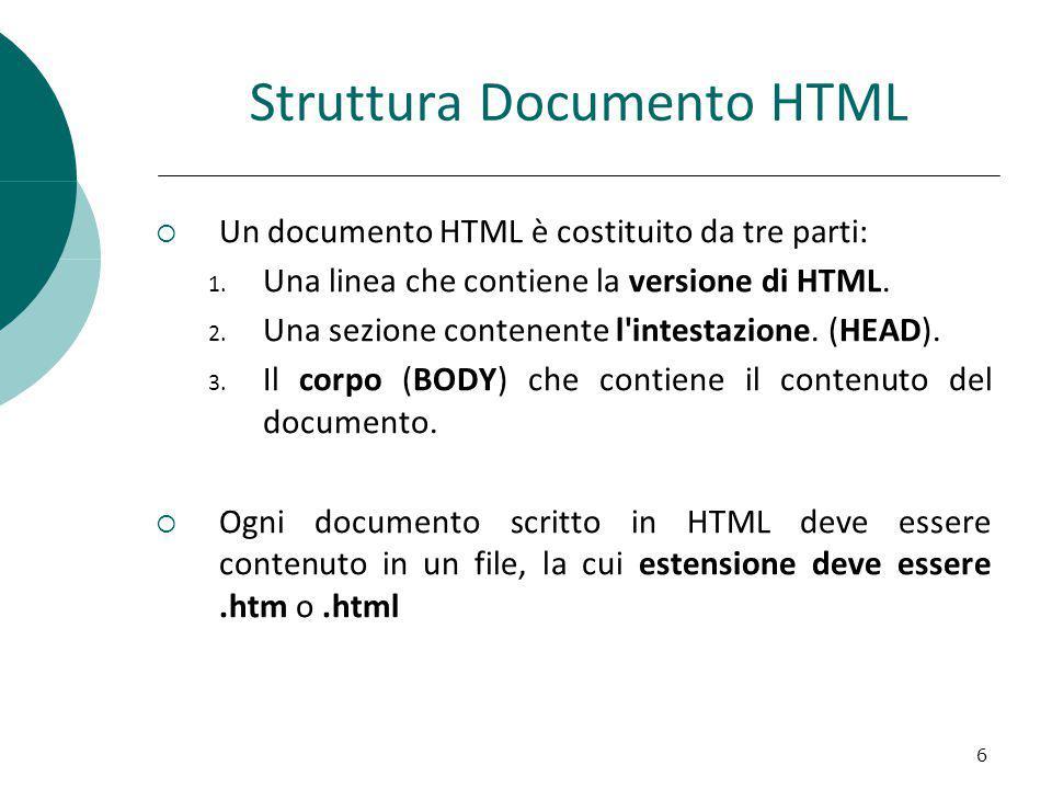 Struttura Documento HTML