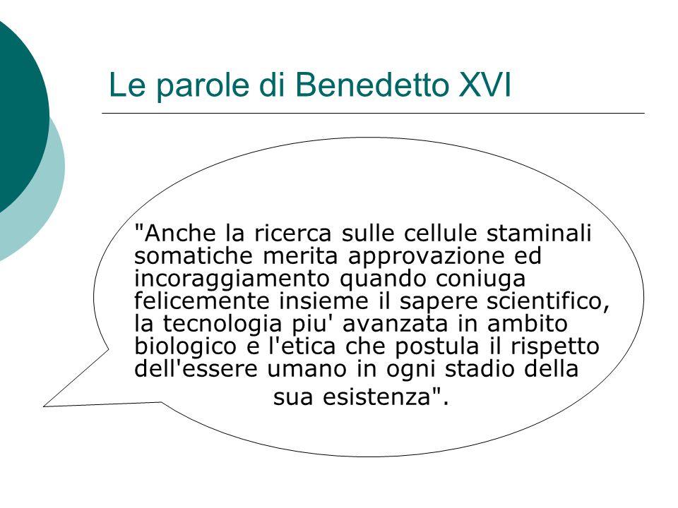 Le parole di Benedetto XVI