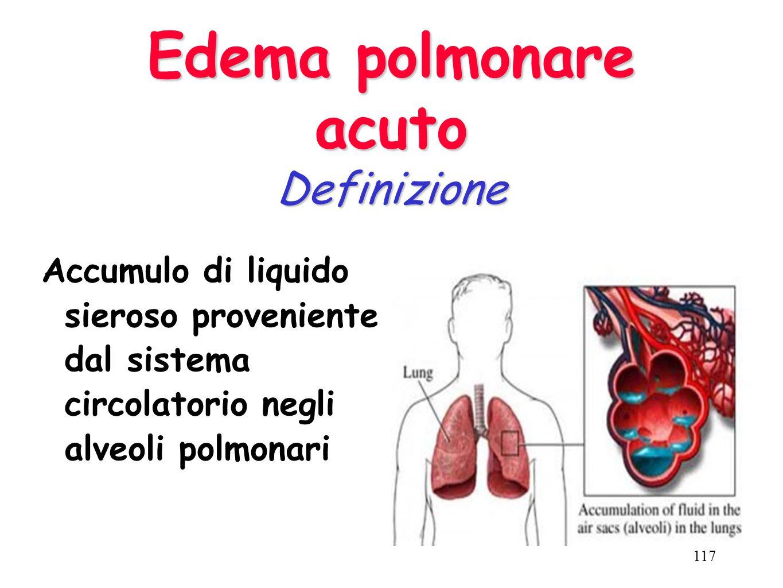Edema polmonare acuto Definizione