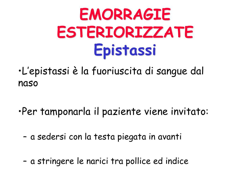 EMORRAGIE ESTERIORIZZATE