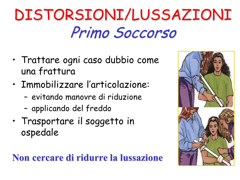 DISTORSIONI/LUSSAZIONI