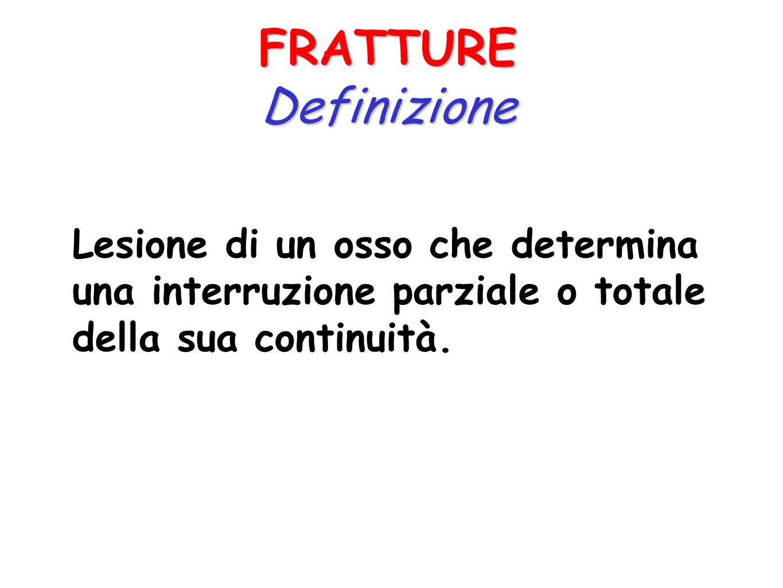 FRATTURE Definizione.