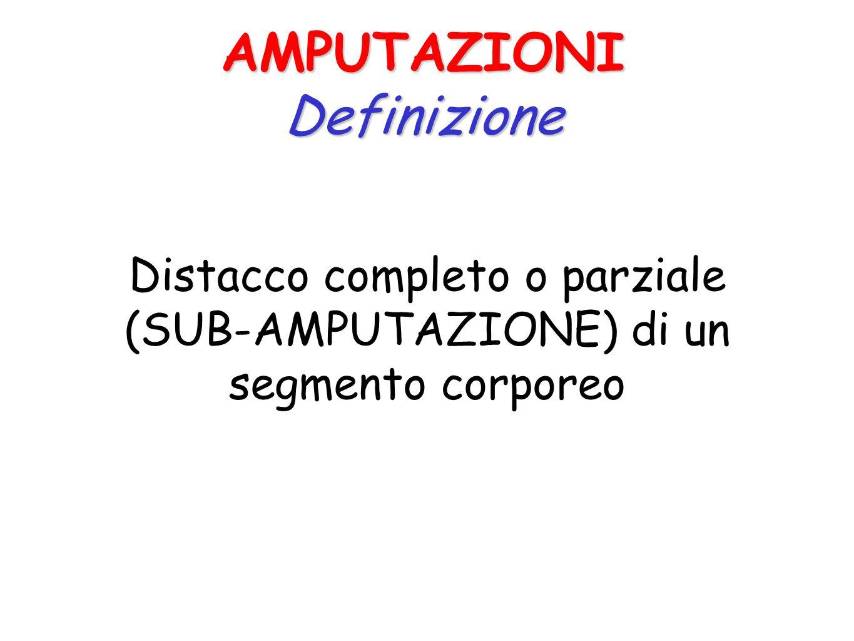 Distacco completo o parziale (SUB-AMPUTAZIONE) di un segmento corporeo