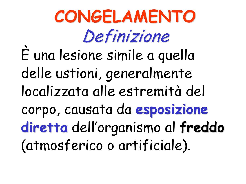 CONGELAMENTO Definizione