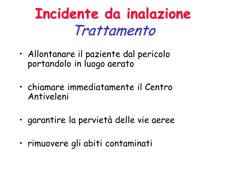 Incidente da inalazione Trattamento