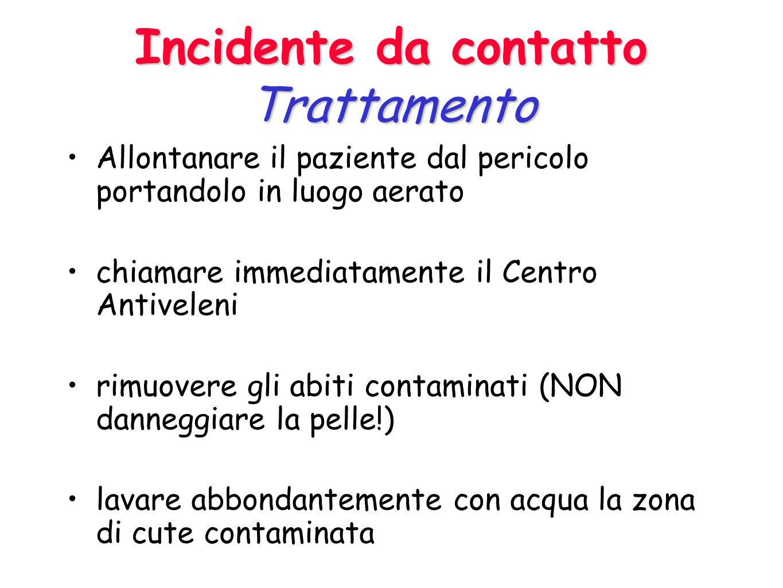 Incidente da contatto Trattamento