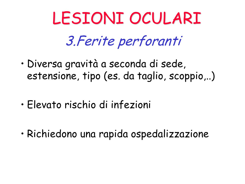 LESIONI OCULARI 3.Ferite perforanti