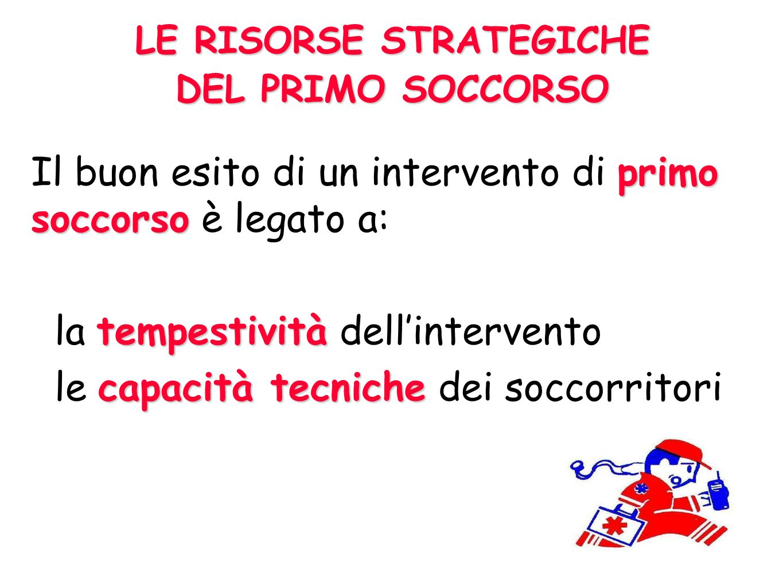 LE RISORSE STRATEGICHE DEL PRIMO SOCCORSO