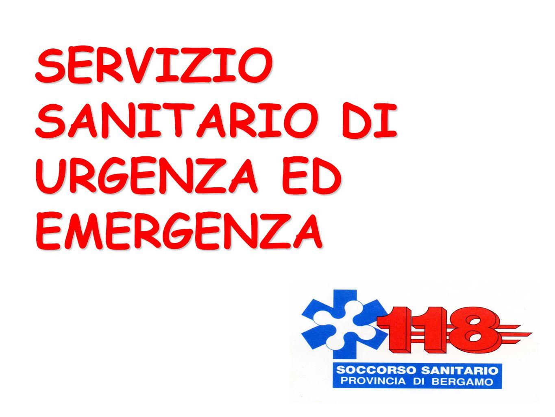 SERVIZIO SANITARIO DI URGENZA ED EMERGENZA