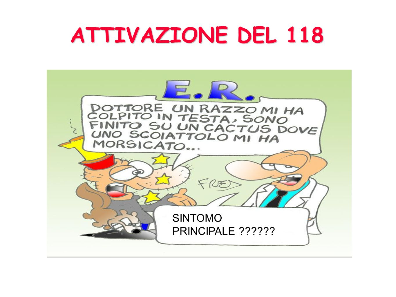 ATTIVAZIONE DEL 118 SINTOMO PRINCIPALE
