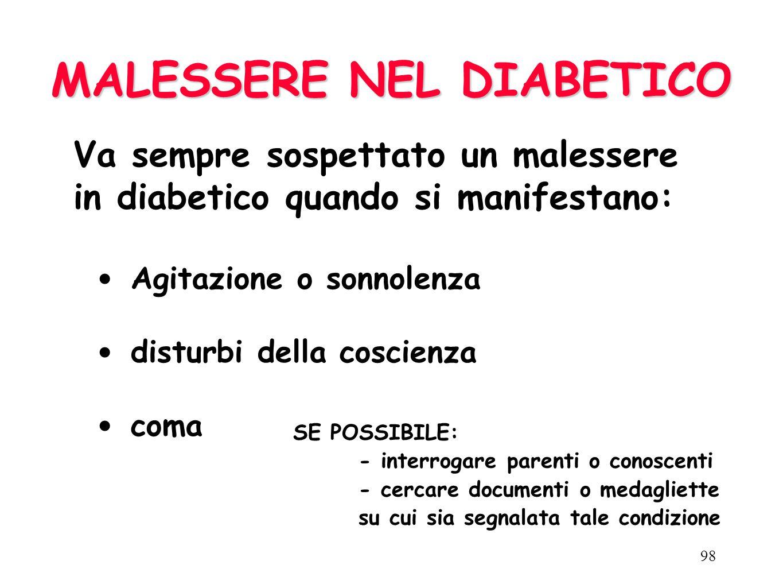 MALESSERE NEL DIABETICO