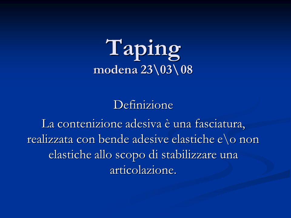 Taping modena 23\03\ 08 Definizione