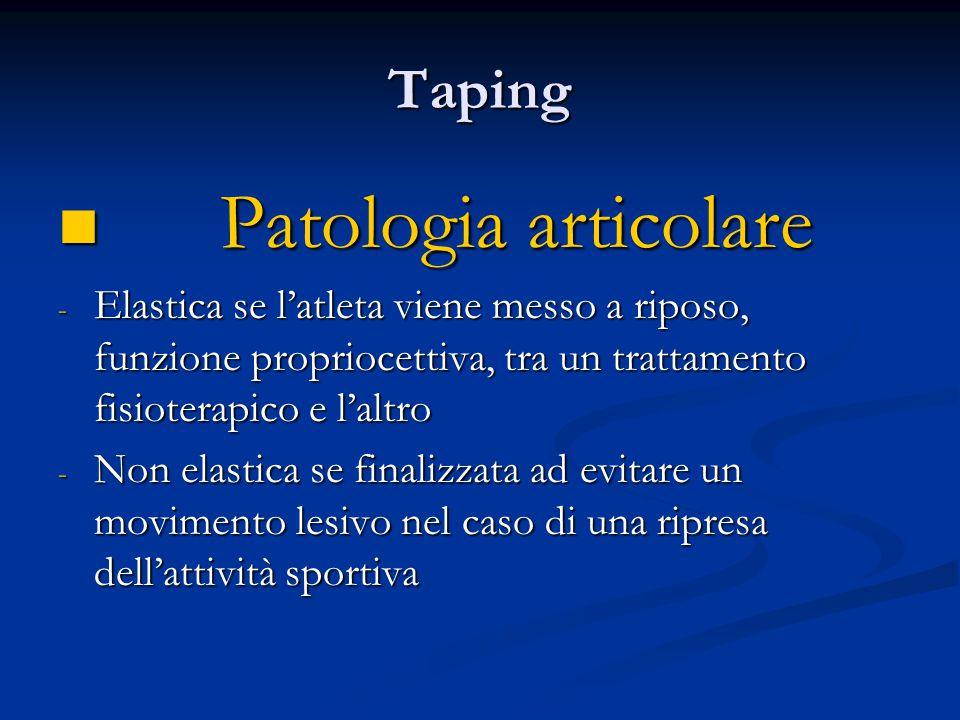 Patologia articolare Taping