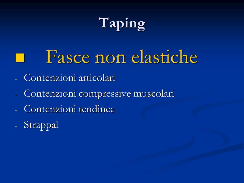 Fasce non elastiche Taping Contenzioni articolari
