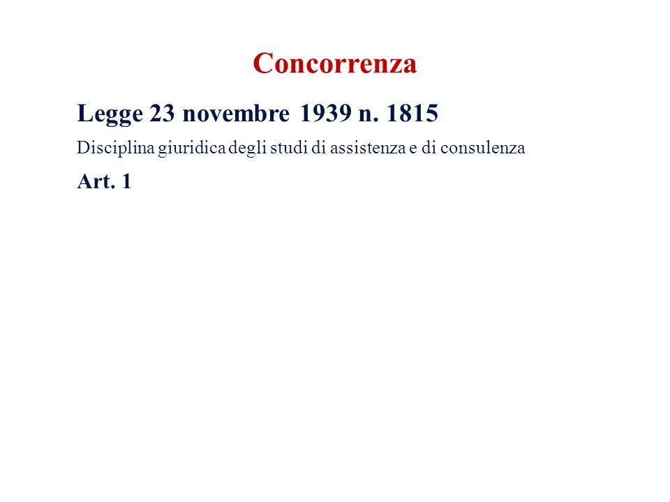 Concorrenza Legge 23 novembre 1939 n.