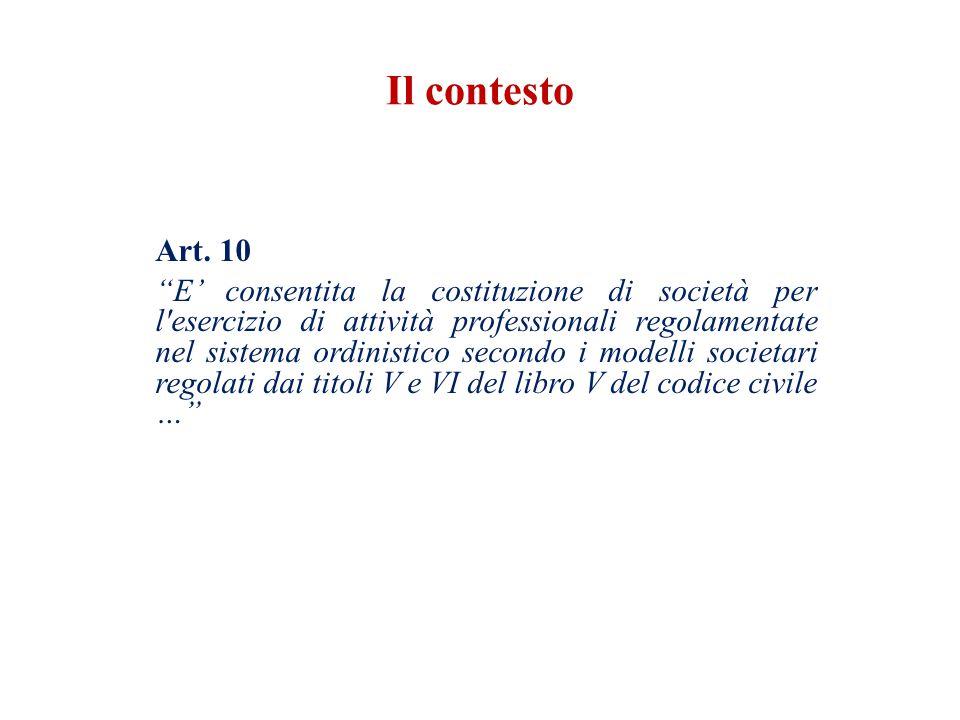 Il contesto Art. 10.