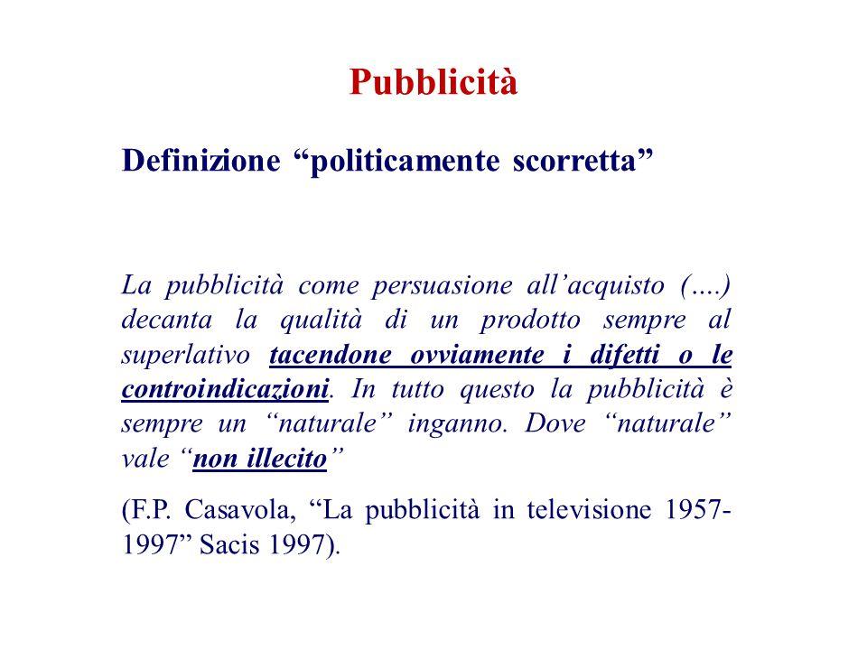 Pubblicità Definizione politicamente scorretta