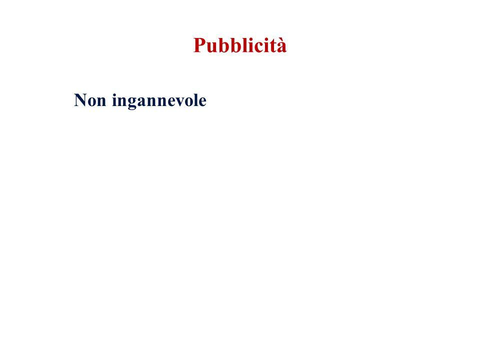 Pubblicità Non ingannevole