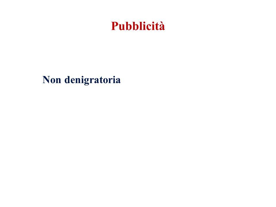 Pubblicità Non denigratoria