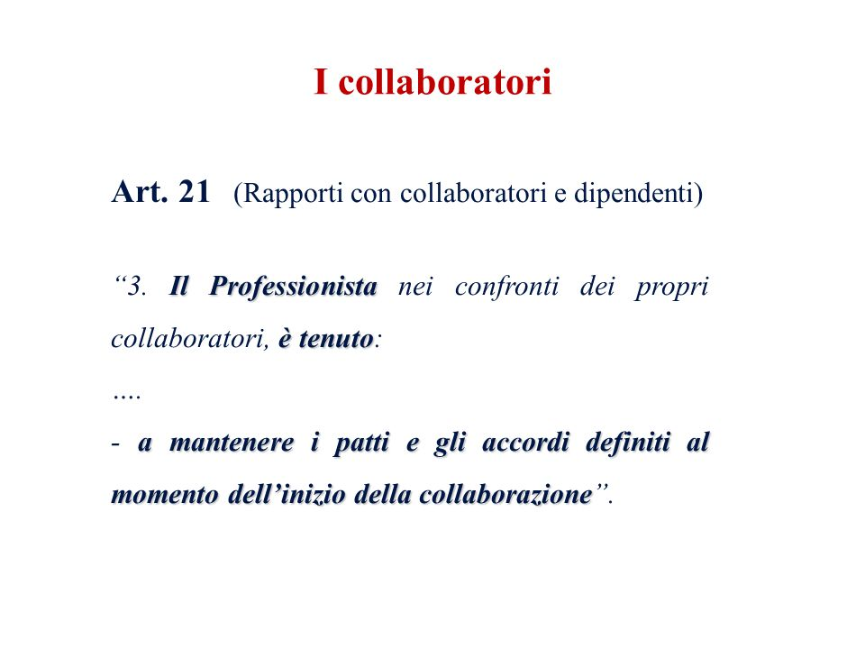 I collaboratori