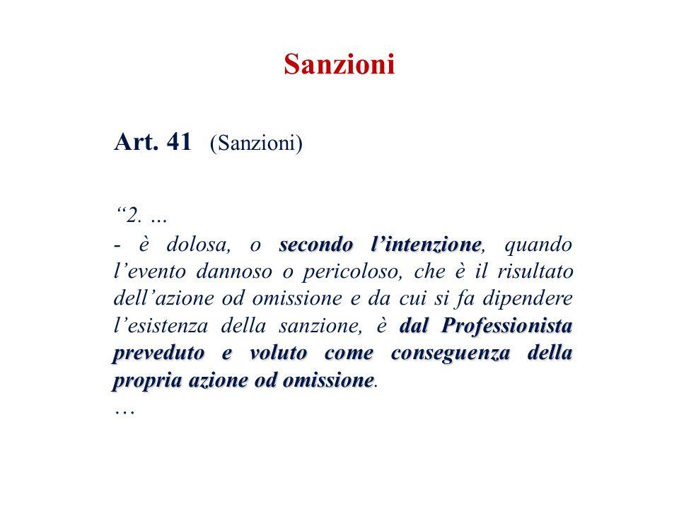 Sanzioni 2. … Art. 41 (Sanzioni)