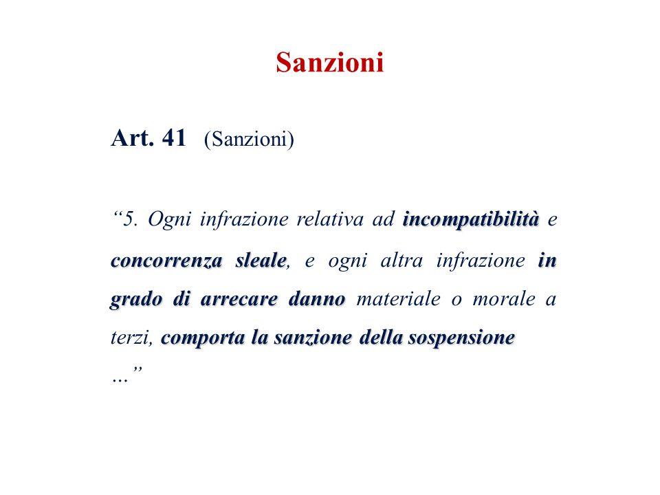 Sanzioni Art. 41 (Sanzioni)