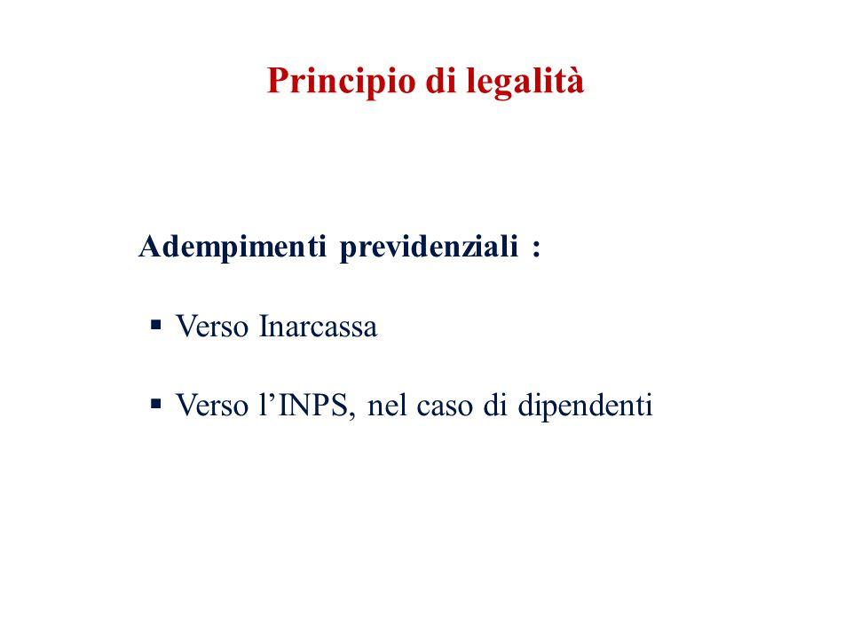 Principio di legalità Verso Inarcassa