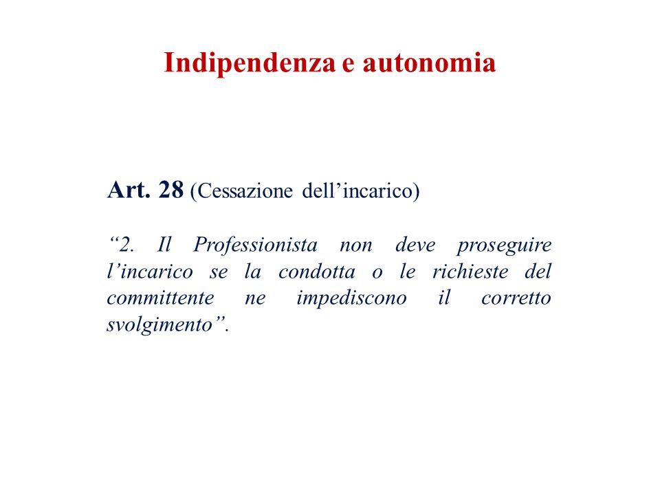 Indipendenza e autonomia