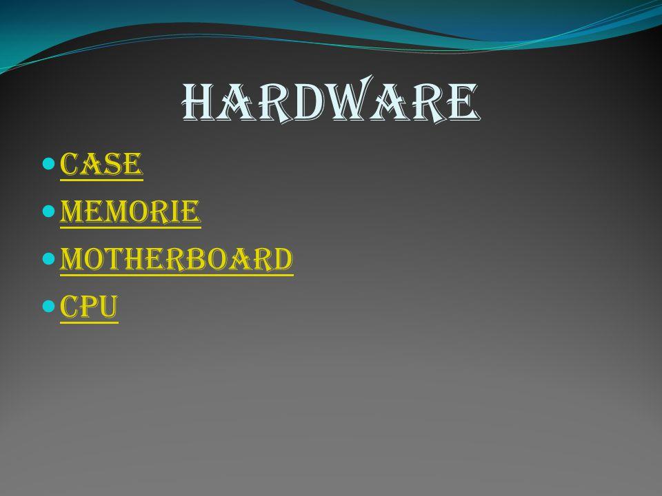 Hardware Case Memorie Motherboard Cpu