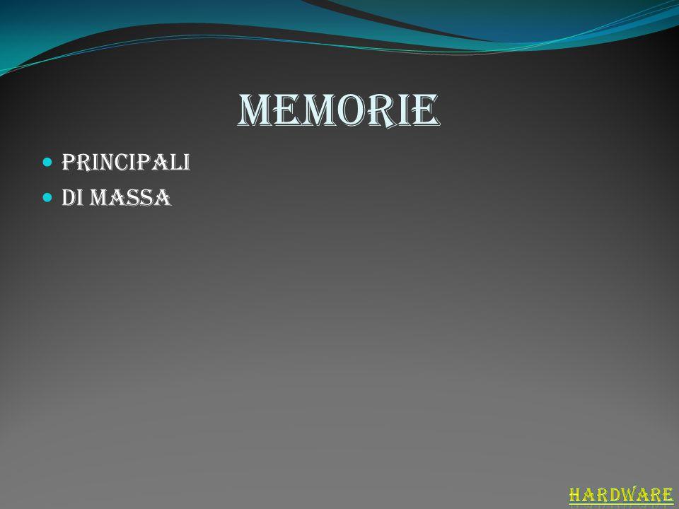 memorie Principali Di massa hardware