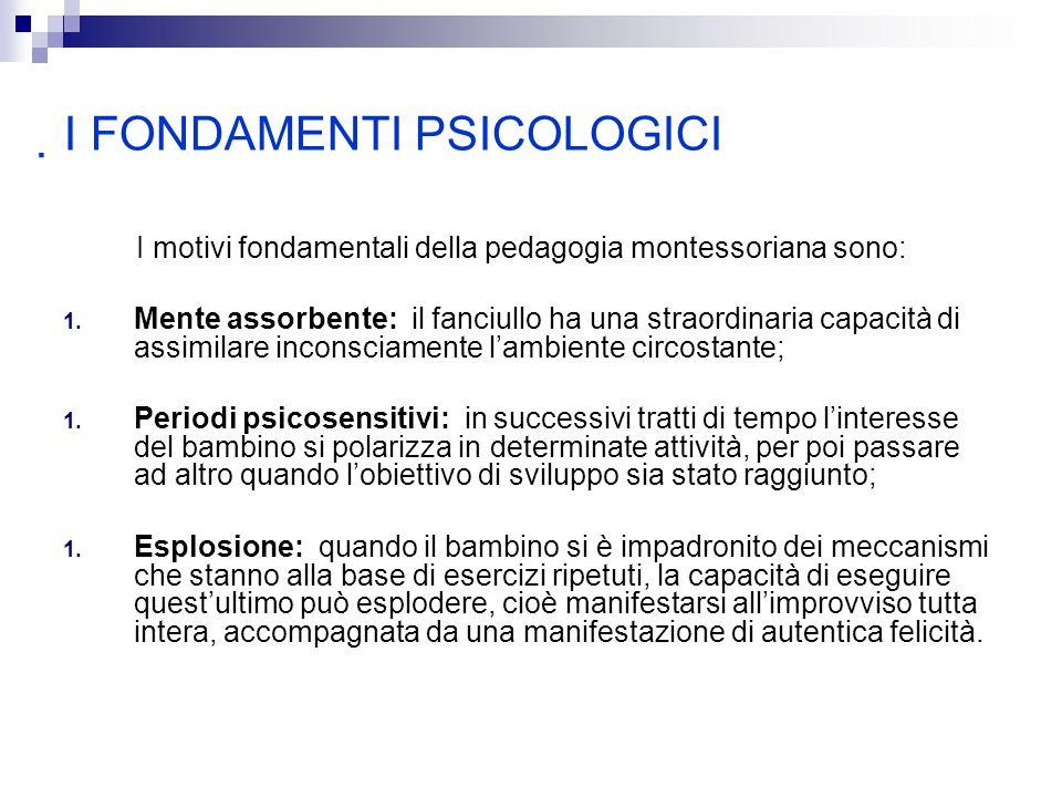 I FONDAMENTI PSICOLOGICI