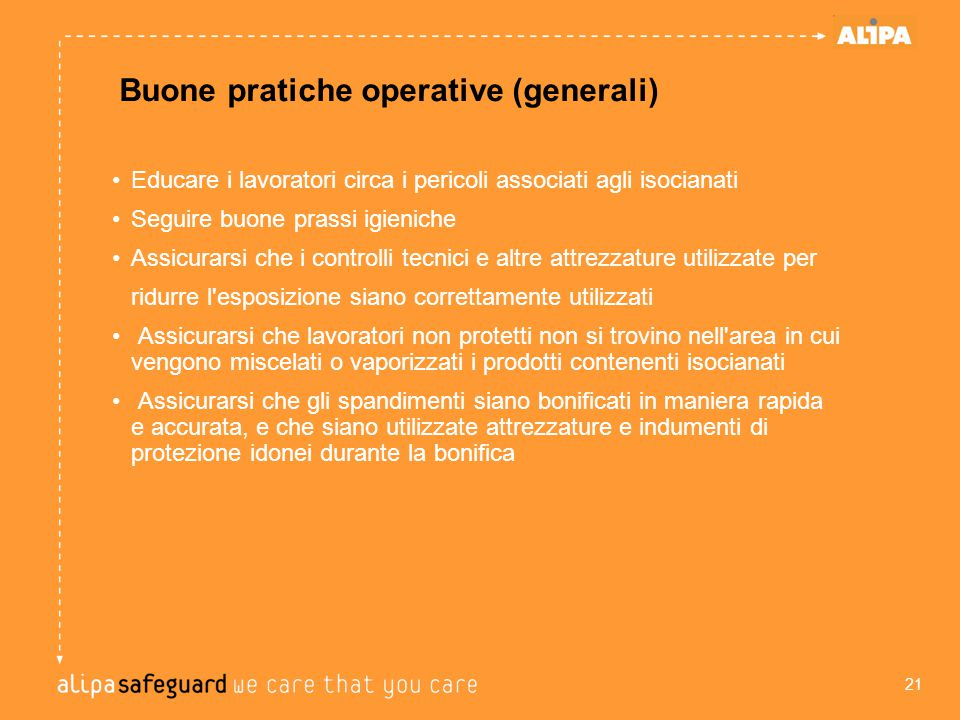 Buone pratiche operative (generali)