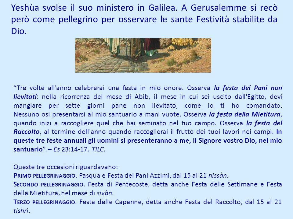 Yeshùa svolse il suo ministero in Galilea