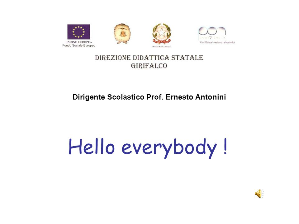 Dirigente Scolastico Prof. Ernesto Antonini