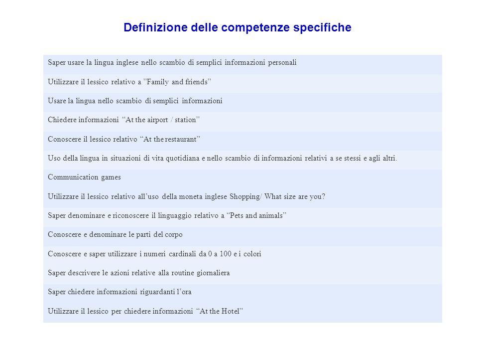 Definizione delle competenze specifiche
