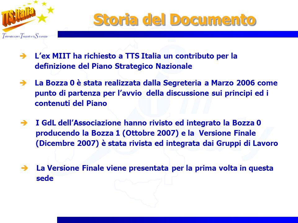 Storia del Documento L'ex MIIT ha richiesto a TTS Italia un contributo per la definizione del Piano Strategico Nazionale.