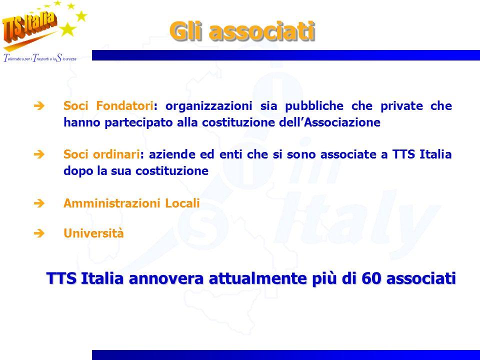 Gli associati TTS Italia annovera attualmente più di 60 associati