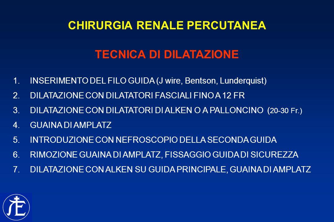CHIRURGIA RENALE PERCUTANEA TECNICA DI DILATAZIONE