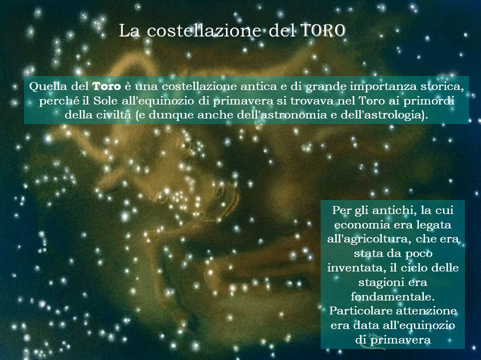 La costellazione del TORO