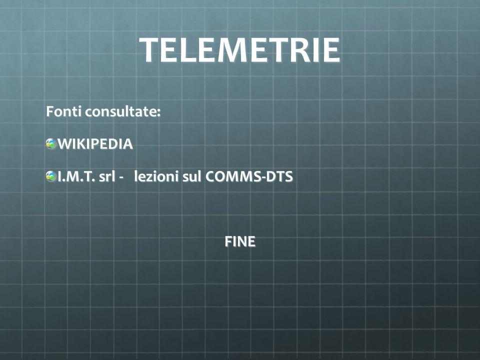 TELEMETRIE Fonti consultate: WIKIPEDIA