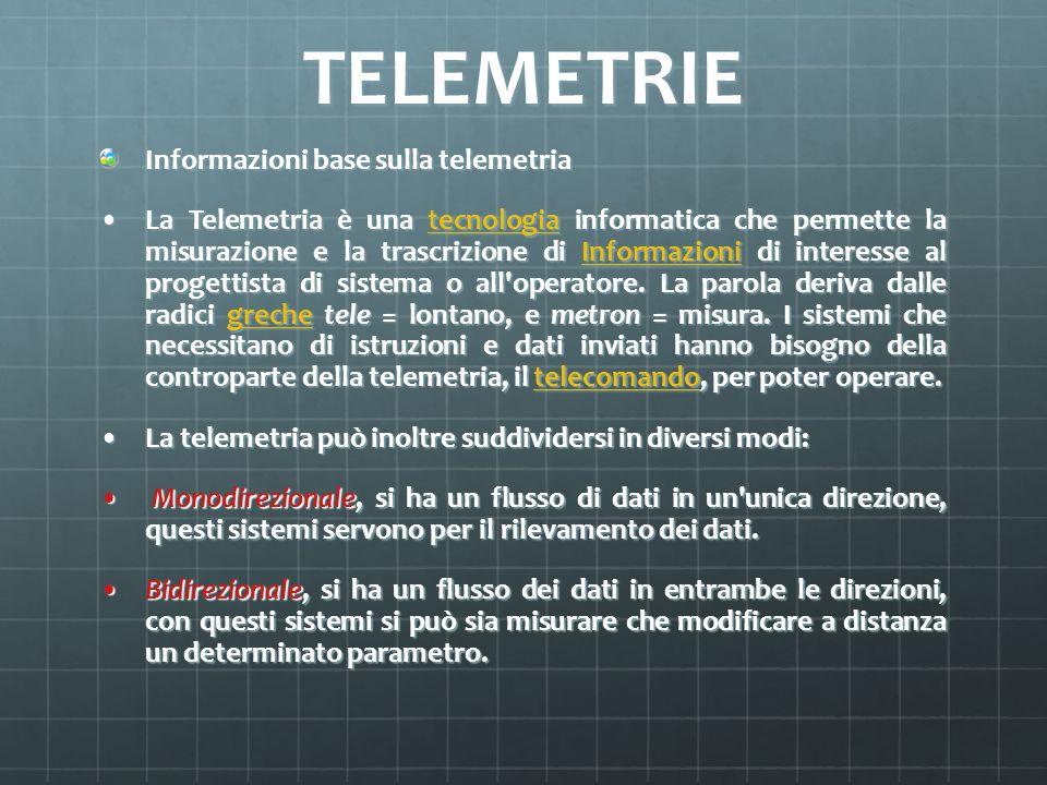 TELEMETRIE Informazioni base sulla telemetria