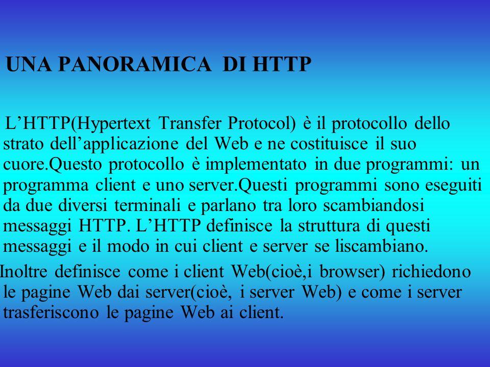 UNA PANORAMICA DI HTTP