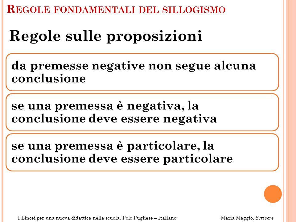 Regole fondamentali del sillogismo
