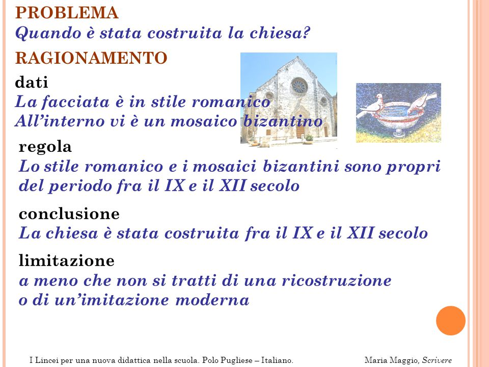 Lo stile romanico e i mosaici bizantini sono propri