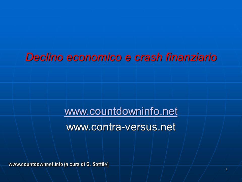 Declino economico e crash finanziario
