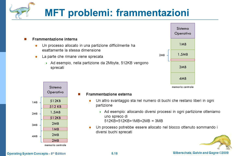 MFT problemi: frammentazioni