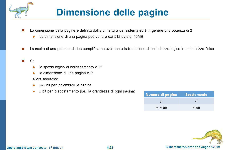 Dimensione delle pagine