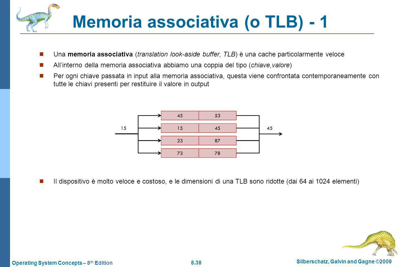 Memoria associativa (o TLB) - 1