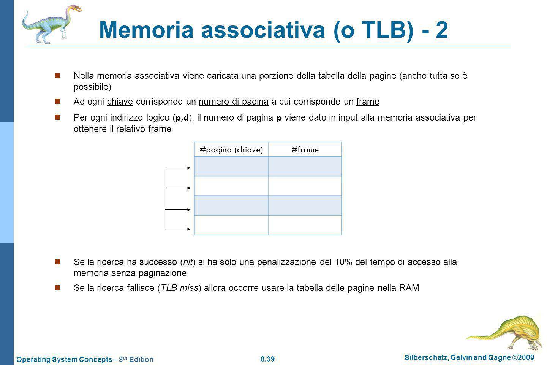 Memoria associativa (o TLB) - 2